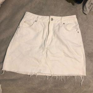 TopShop White Jean Denim Skirt